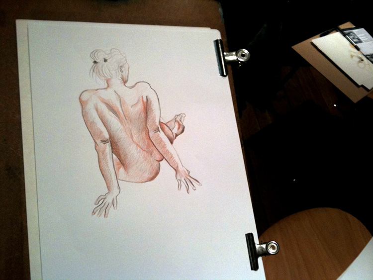 Sample of work from the King Street life drawing session