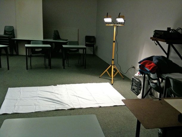 Alternate view of the life drawing session at UWA